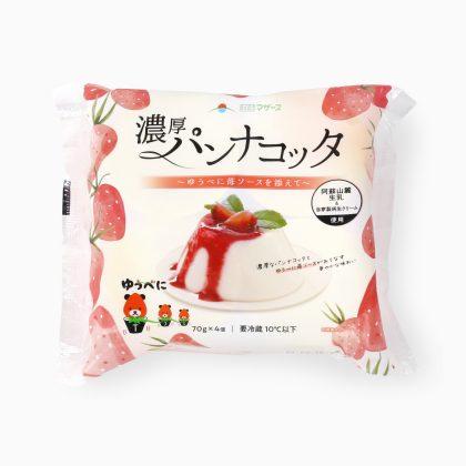 濃厚パンナコッタ~ゆうべに苺ソースを添えて~